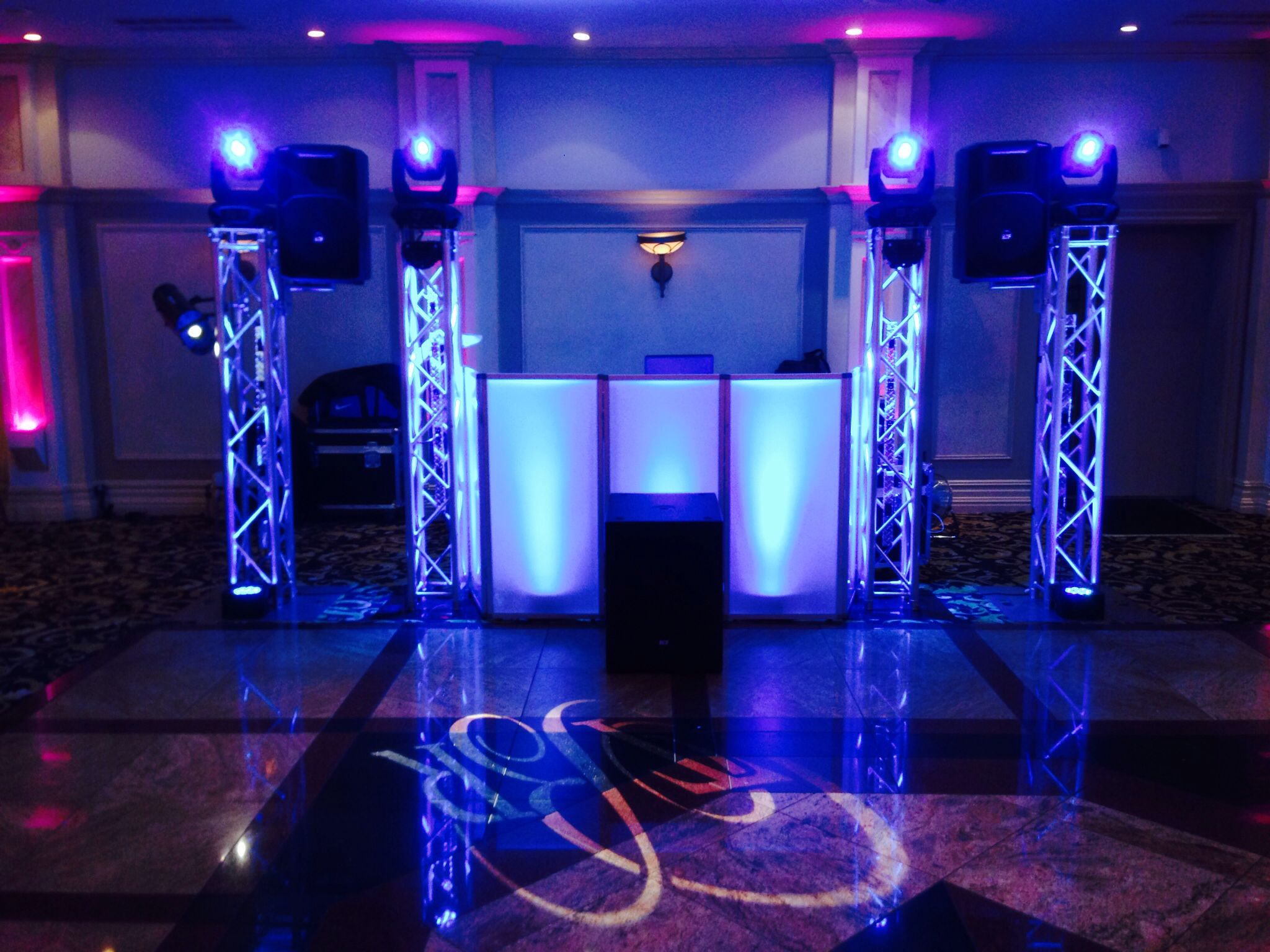 One Of The Dj Setups For Our Clients Nice And Clean Weddingdj Marinadelrey