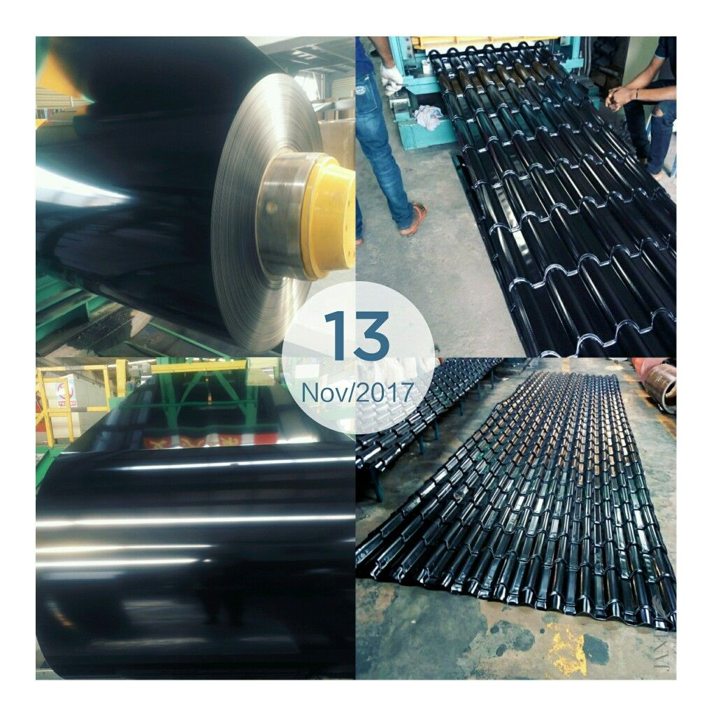 Our Traffic Black Ppal Used For Produce The Color Coated Aluminum Roofing Sheet Wechate Whatsapp008615254382836 Aluminum Roof Roofing Roofing Sheets