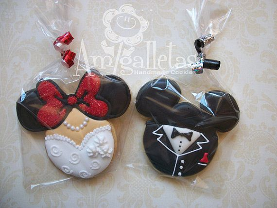 Mickey Mouse Wedding Cookies - 1 Dozen