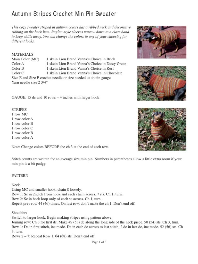Autumn Stripes Sweater - Free download as PDF File ( pdf