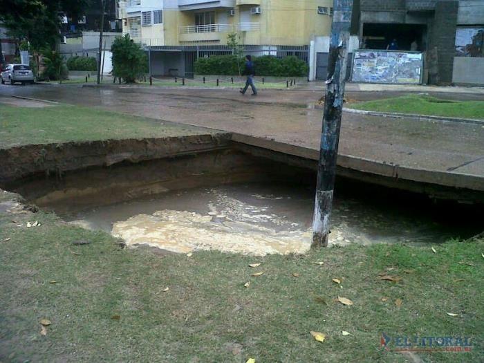 Se hundió el suelo en Poncho Verde y Uruguay