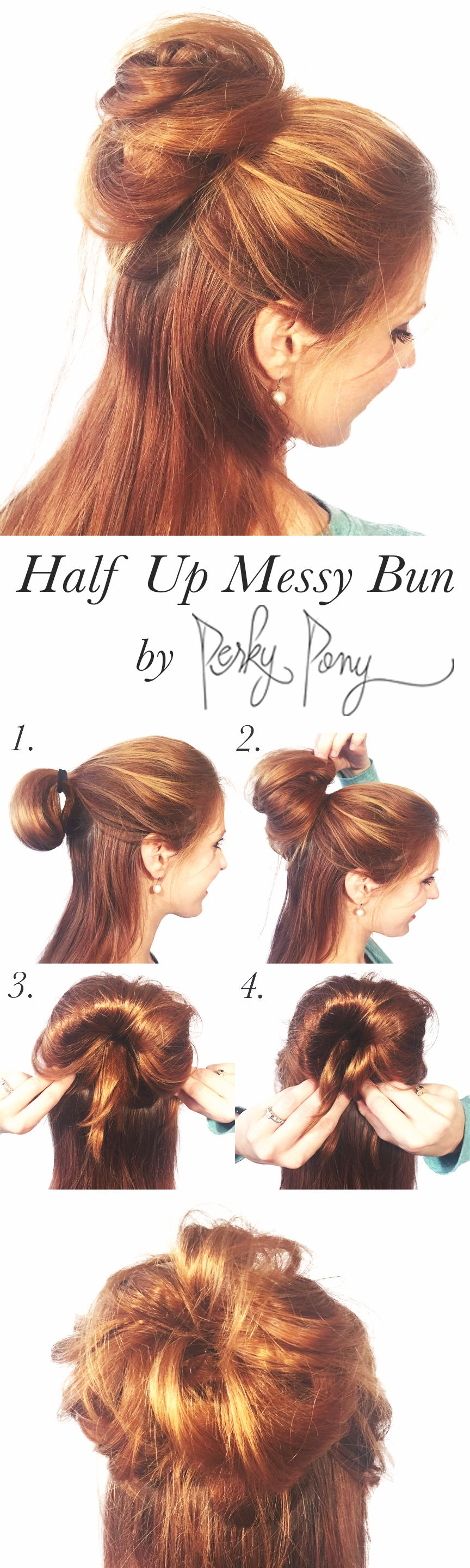 """Who doesn't love a good """"messy""""bun?!?  The kind you throw up in 2 seconds and…"""