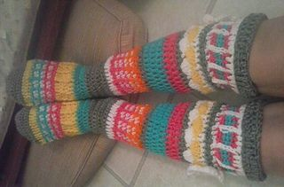 Free Spirit Knee High Slipper Socks Pattern By Clarissa Paige Dove