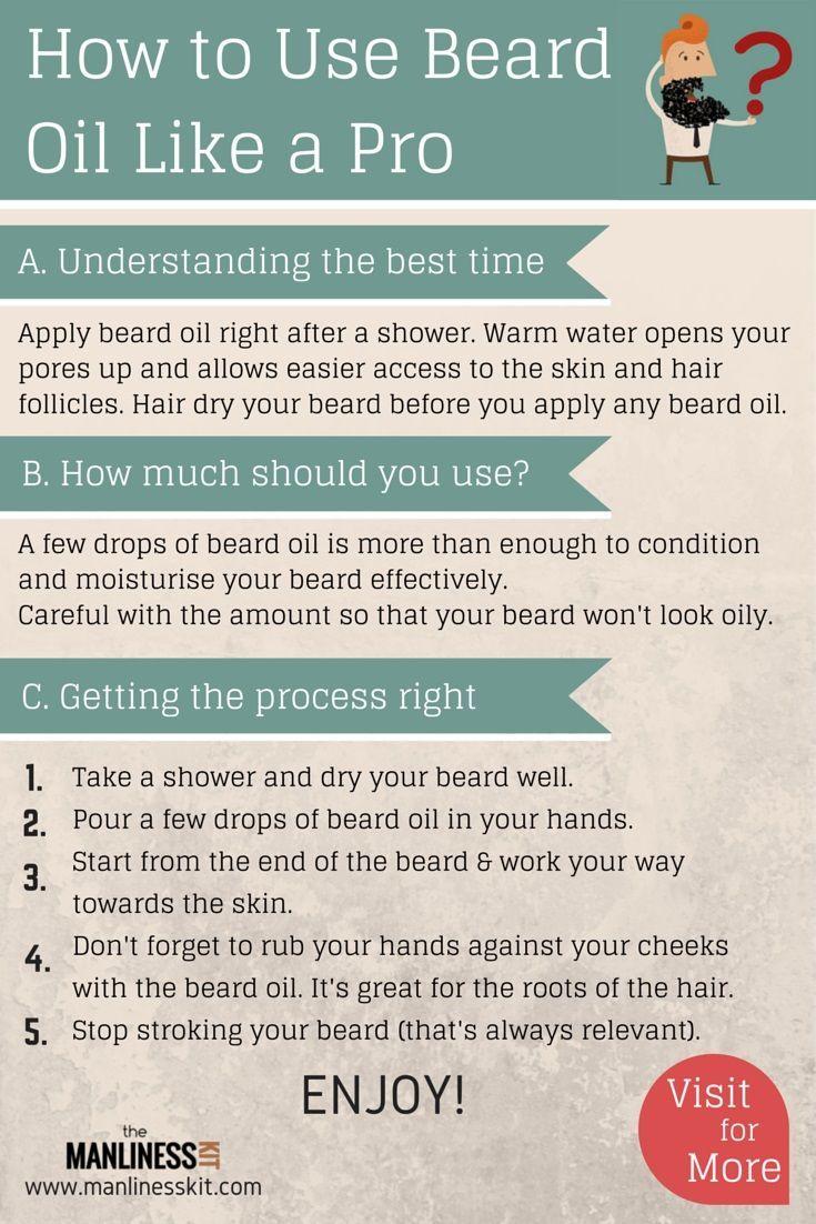 How to Use Beard Oil Like a Pro Beard oil, Beard oil