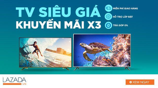 Mua Tivi giá rẻ Lazada hơn nữa khi áp dụng mã giảm giá