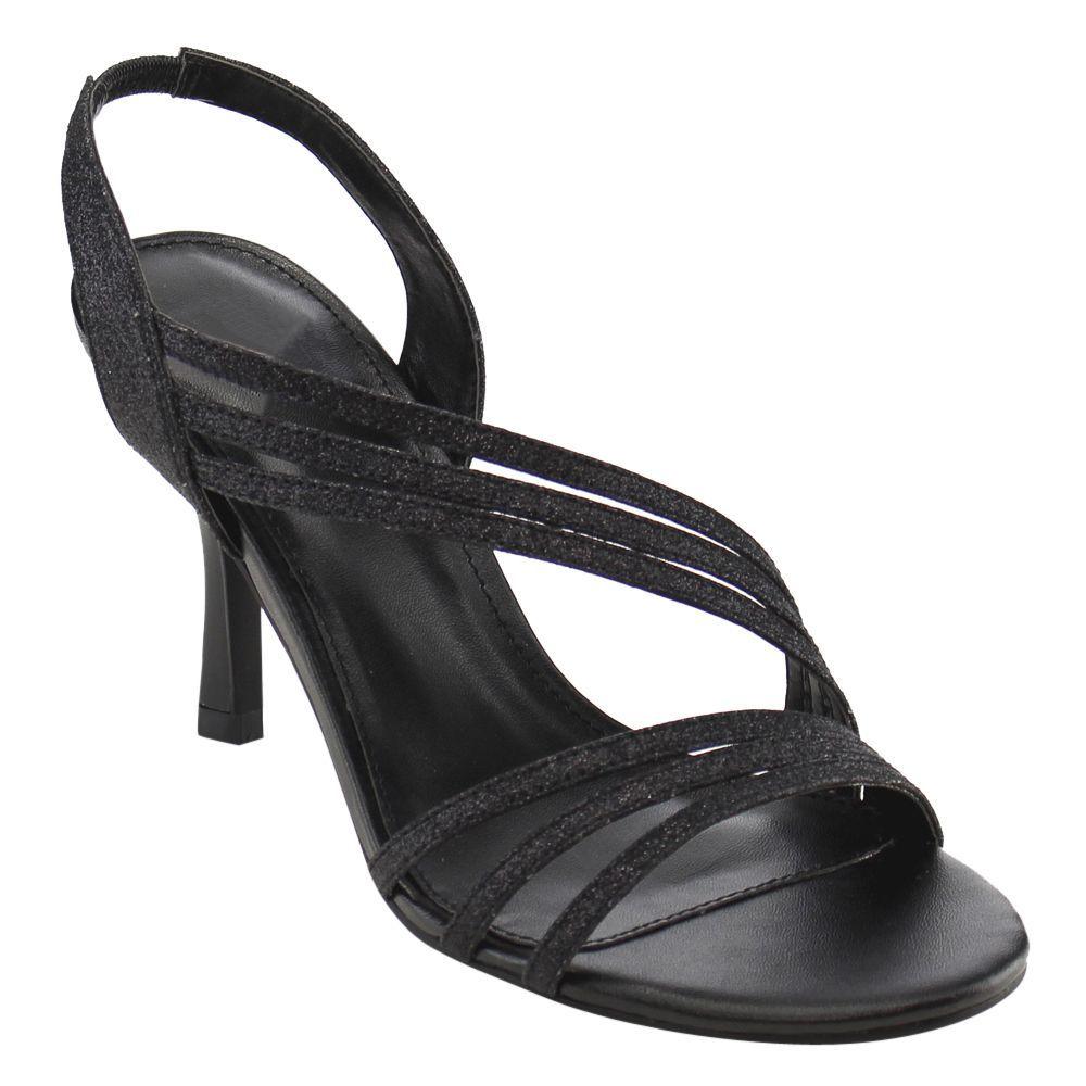 FIT Beston CC93 Women's Sparking Strappy Slip On Mid Heel Dress Sandals
