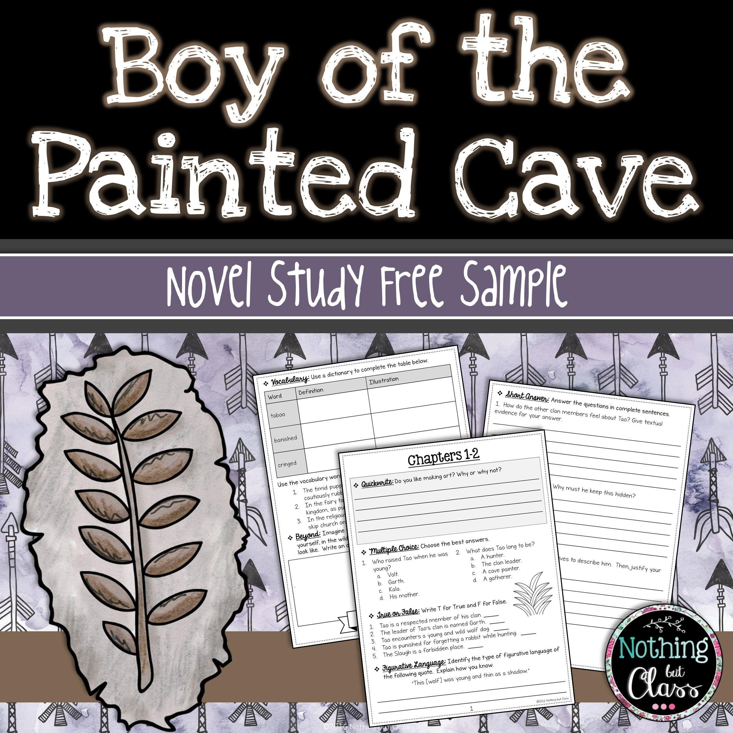 Boy Of The Painted Cave Novel Study Unit Free Sample Novel
