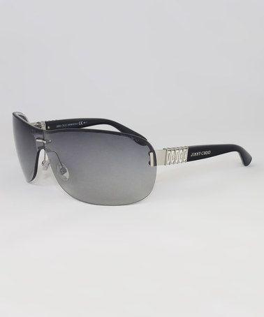 062471b06d Another great find on  zulily! Palladium Black   Smoke FLO S Shield  Sunglasses by JIMMY CHOO  zulilyfinds