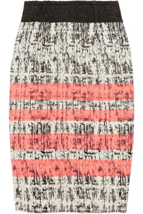 Giambattista Valli: Striped tweed skirt