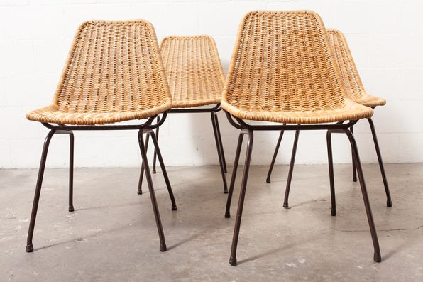 Woven metal furniture Patio Chairs Set Of Dirk Van Sliedrecht Woven Rattan And Metal Chairs Pinterest Set Of Dirk Van Sliedrecht Woven Rattan And Metal Chairs Chair