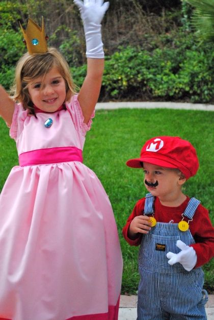 mario and princess brother and sister costume - Halloween Costume For Brothers