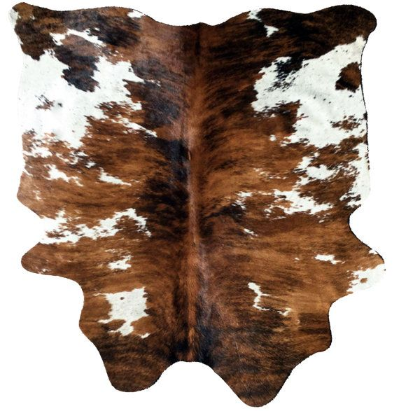 cowhide rug cow hide leather tricolor brown by thecowpelt