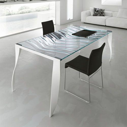 Dining table / rectangular / contemporary / metal LUZ DE LUNA by Giovanni T.Garattoni TONELLI Design