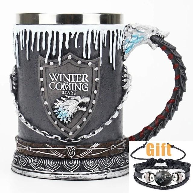 Game of Thrones Stainless Steel Resin Mug Freeshipping