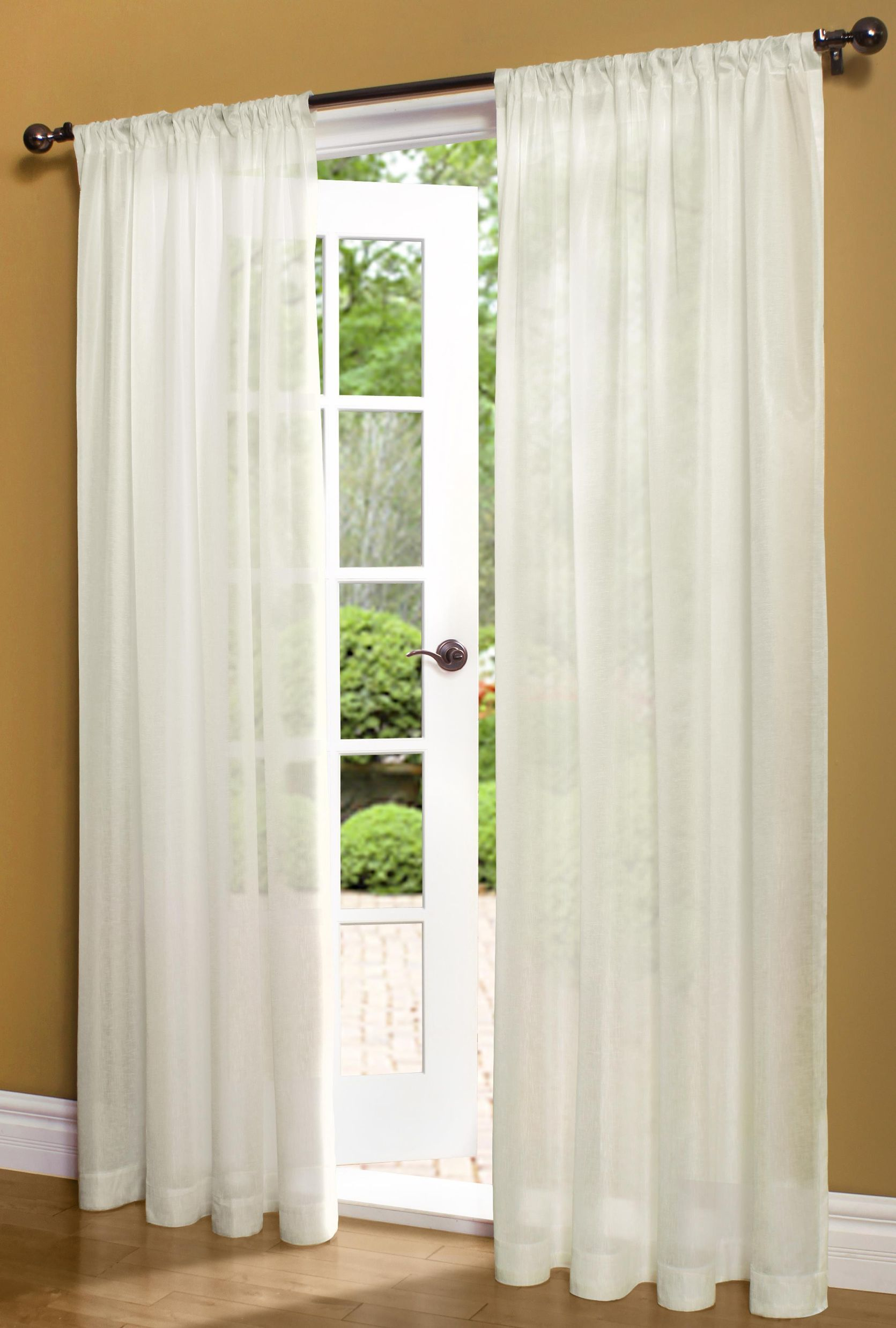 Insulated Rod Pocket Sheer Curtain Panel 50
