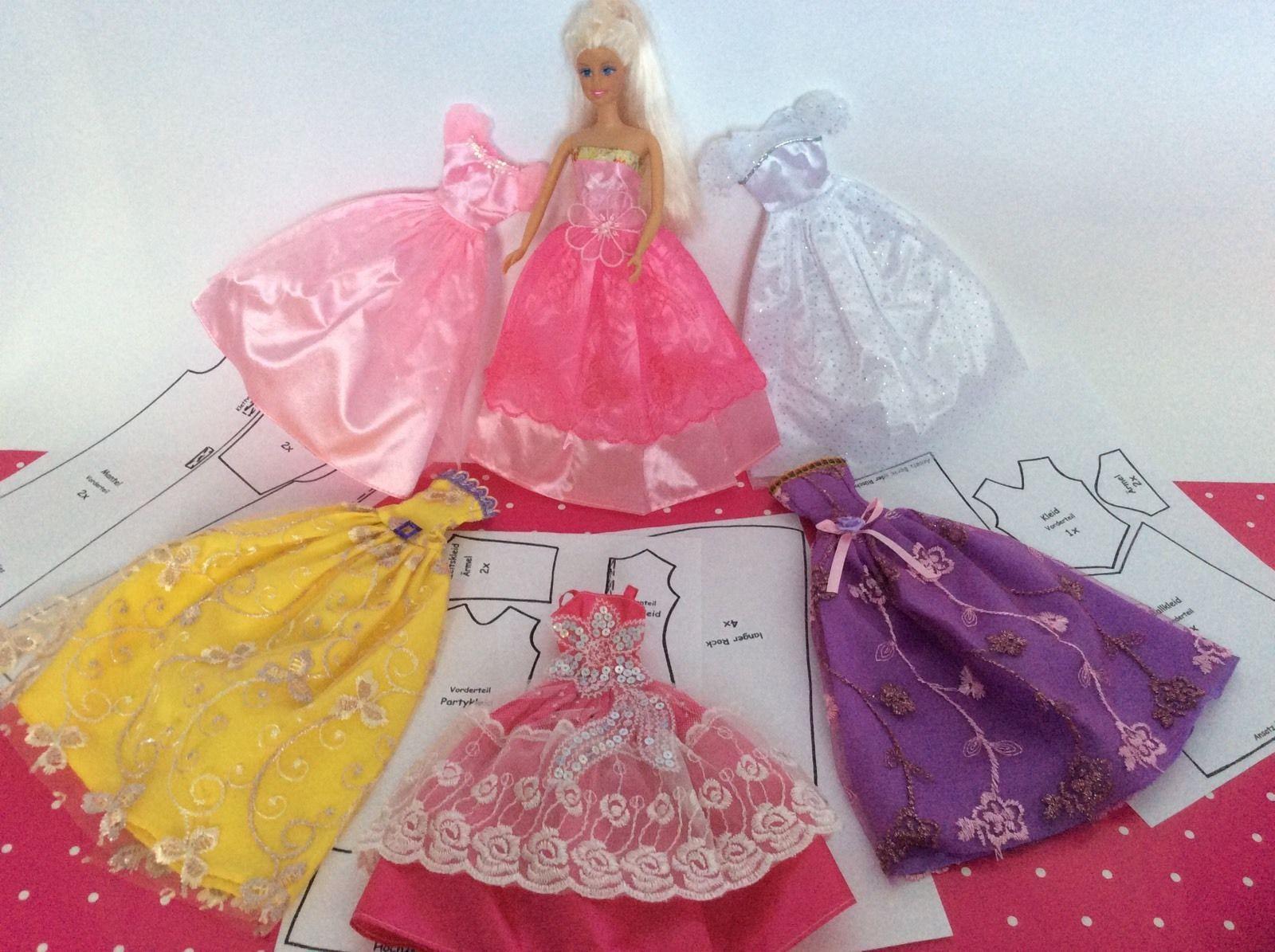Großes SET Schnittmuster Puppenkleidung für Mode Puppen 29cm - 30cm ...