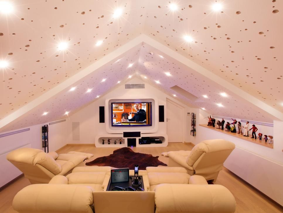 10 Awesome Man Caves To Play GTA V In ALL DAY | Attic theater, Attic ...