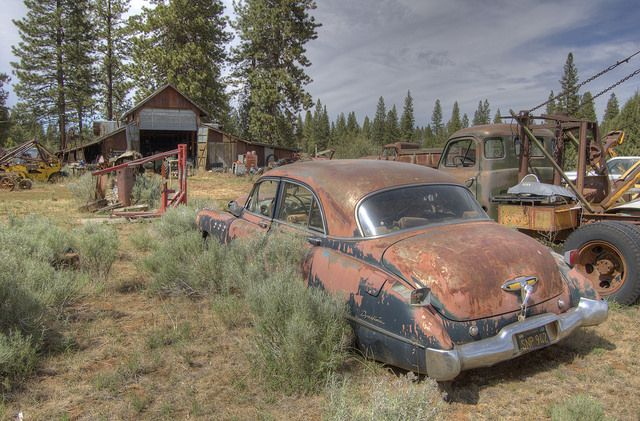 1949 or 1950 Buick sedan, resting in the sagebrush HDR | Flickr - Photo Sharing!