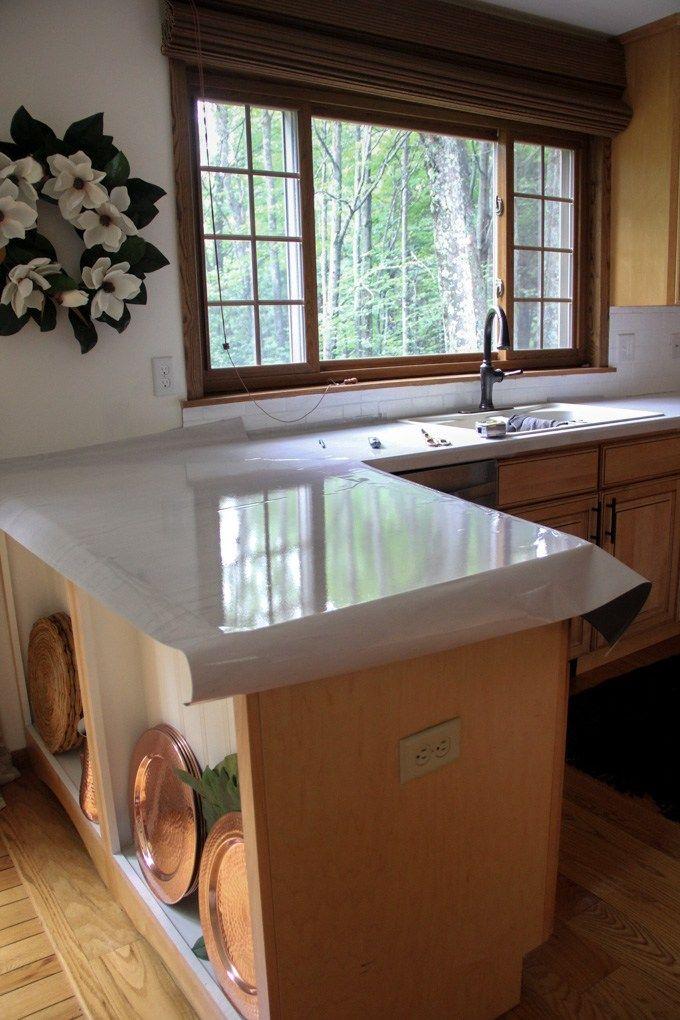 Diy Faux Marble Countertops Diy Countertops Kitchen Design Diy