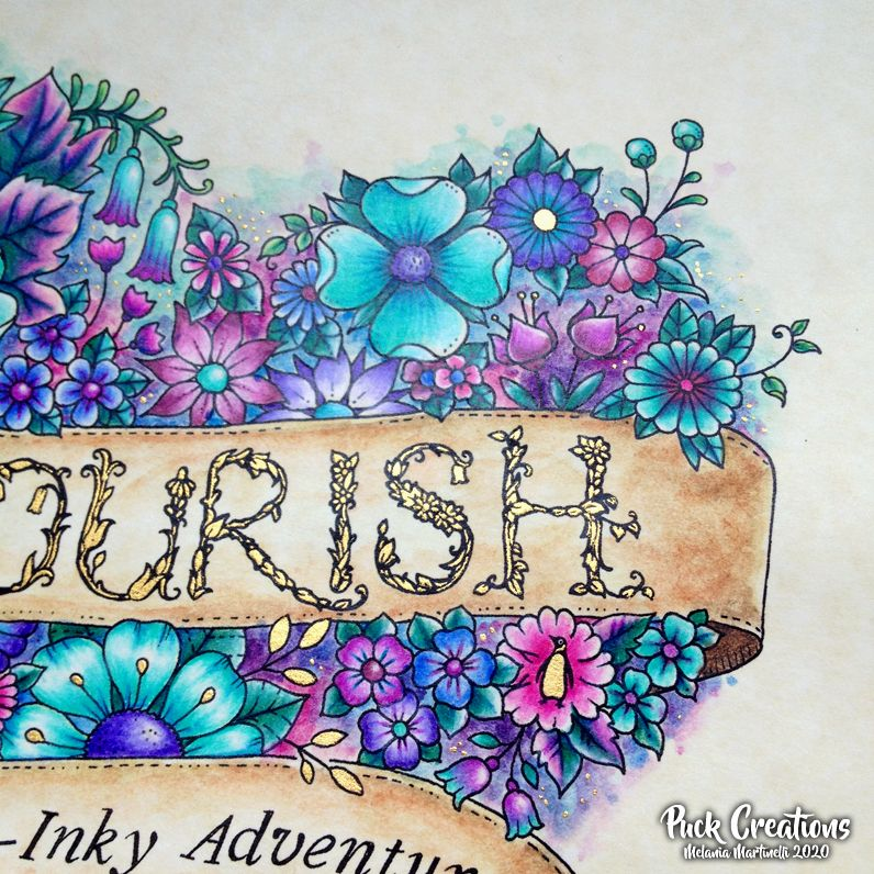 From Flourish Colouring Book By Johanna Basford Johannabasford Flourish Flourishcolouringbook In 2020 Basford Coloring Books Flourish