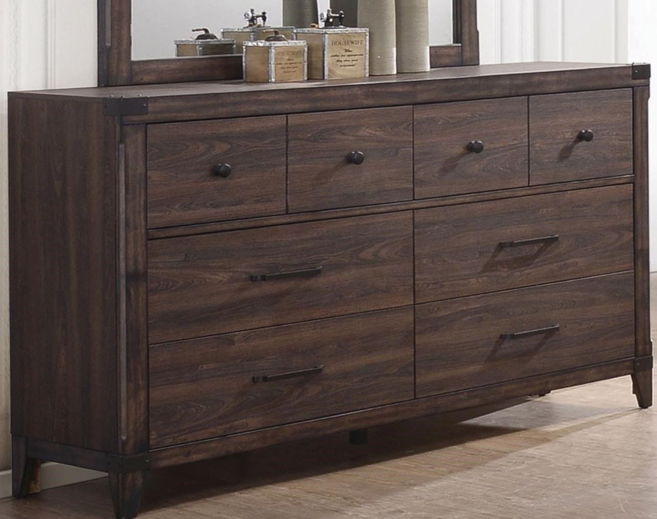 Dark Grey Oak Richmond Collection Bedroom Furniture 4pc Set Eastern King Size Bed W Storage Drawers Fb Elegant Rustic Dresser Wooden Dresser Coaster Furniture