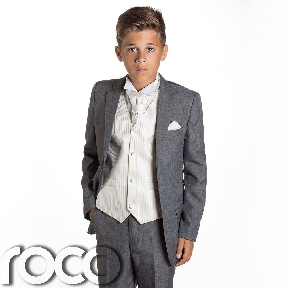 Boys Grey Suit, Page Boy Suits, Prom Suits, Boys Wedding Suits ...