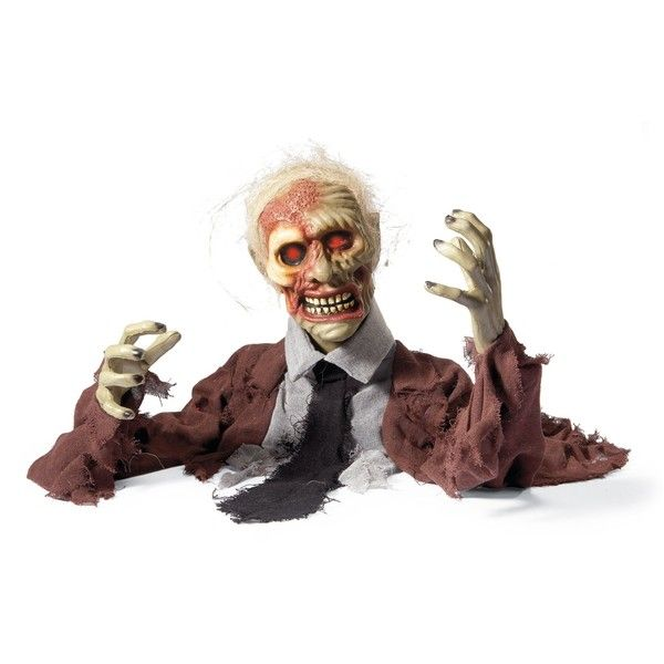 Grandin Road Skully The Zombie Animated Halloween Prop ($49 - animated halloween decorations