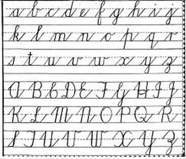 We are teaching cursive writing throughout the school, from Junior ...