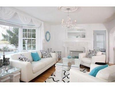 Felix Feliz April 2011 Living Room Design Blue Aqua Living Room Blue Paint Living Room