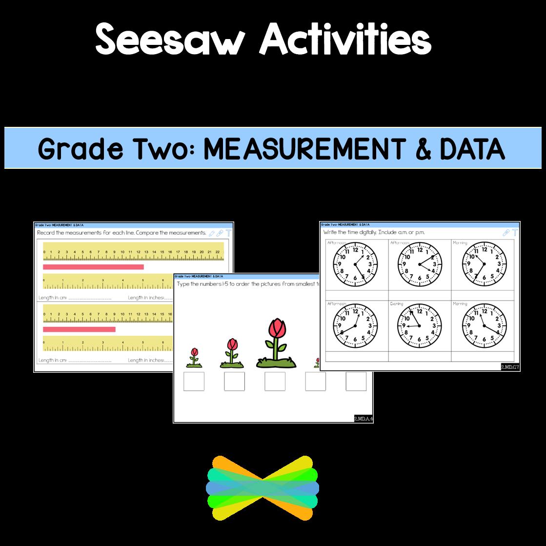 Seesaw Activities CCSS Grade Two Measurement \u0026 Data Online Learning [ 1119 x 1119 Pixel ]