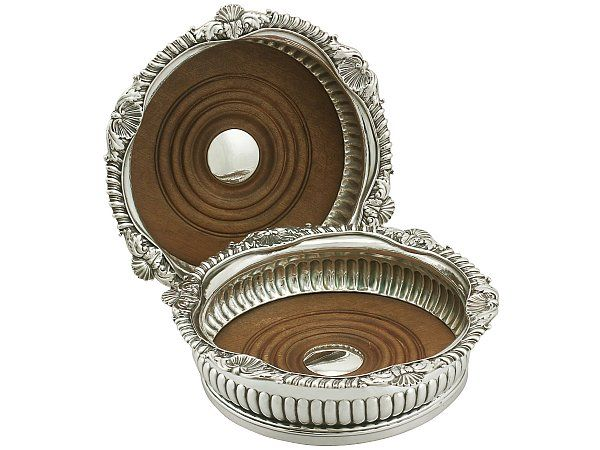 Sterling Silver Coasters By Paul Storr