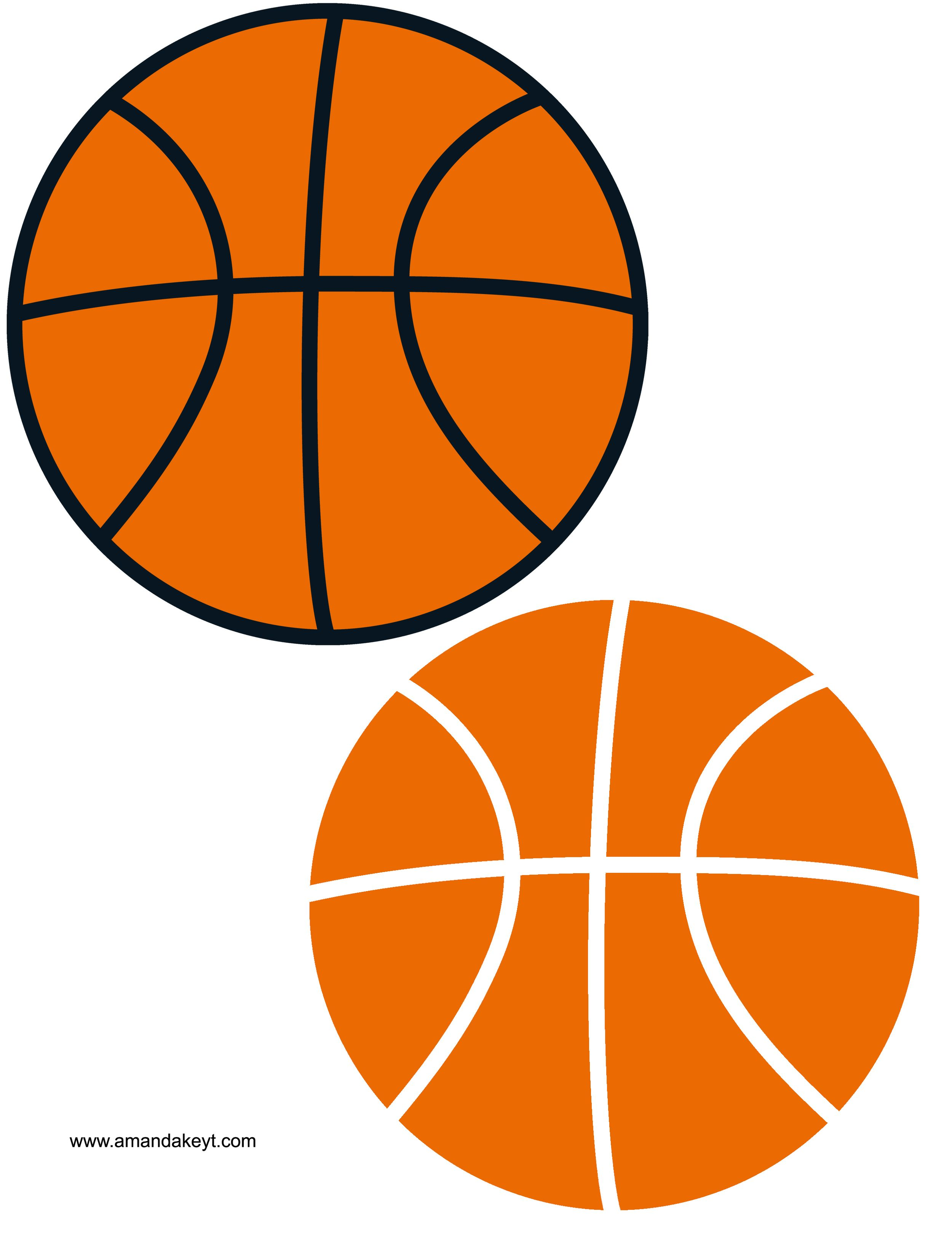 Balls from printable photo booth prop set basketball