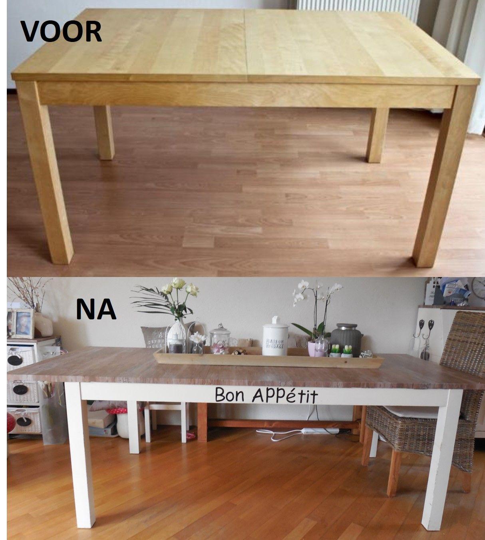 Metamorfose Ikea eettafel (ikea hack)