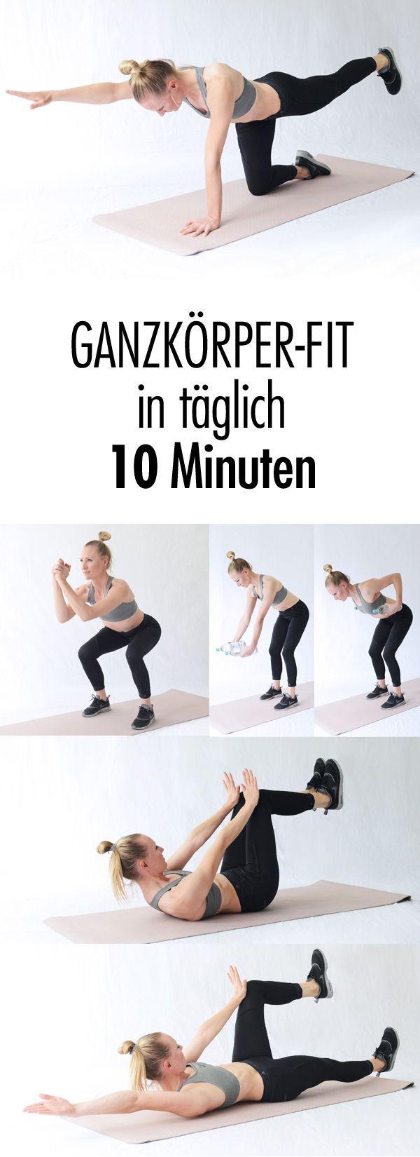 Fit mit täglich zehn Minuten Training - Fitness trainingsplan - #FIT #Fitness #Minuten #mit #täglich...