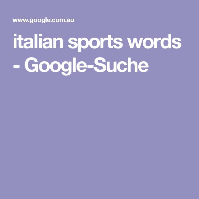 italian sports words - Google-Suche