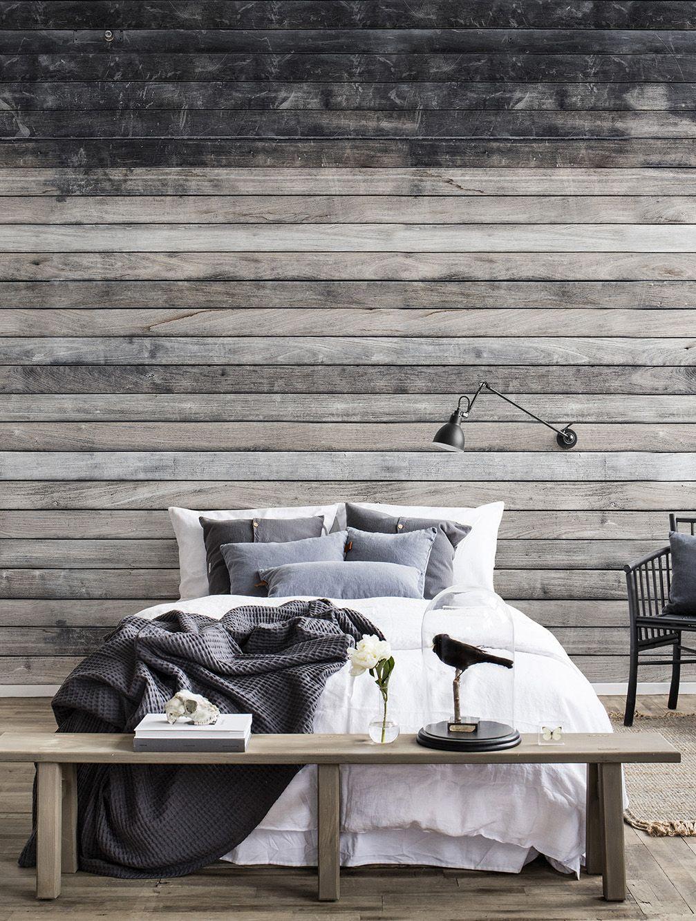 Worn Wood | Schlafzimmer ideen in 2019 | Tapete holz, Ziegel ...