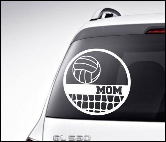 High School Volleyball Mom Vinyl Car Decal By Vinyldecorboutique 6 00 Volleyball Mom Volleyball Car Decals Vinyl