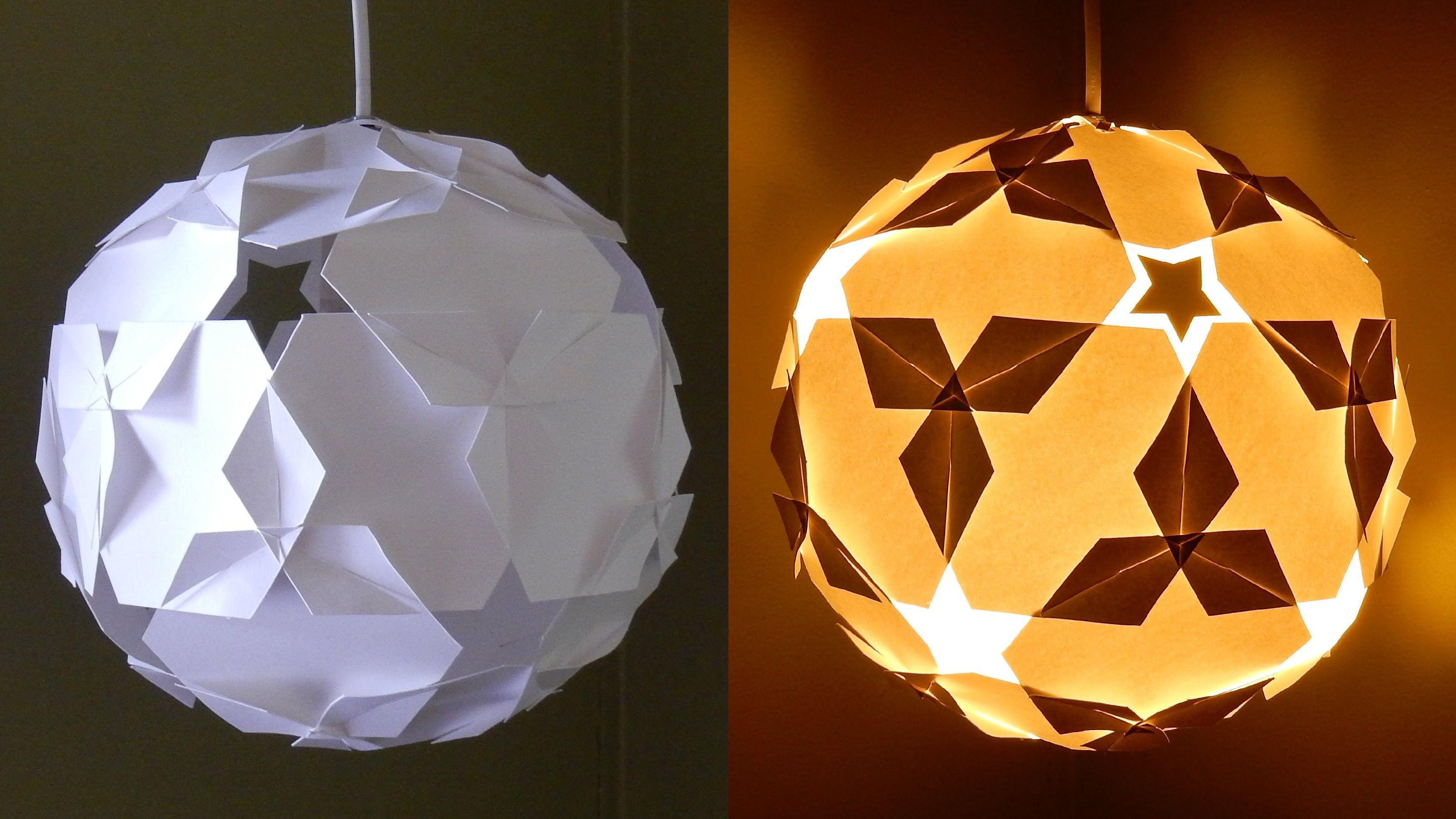 DIY paper lantern star ball learn