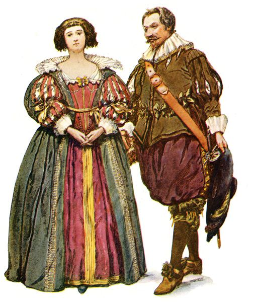 Colonial dress styles