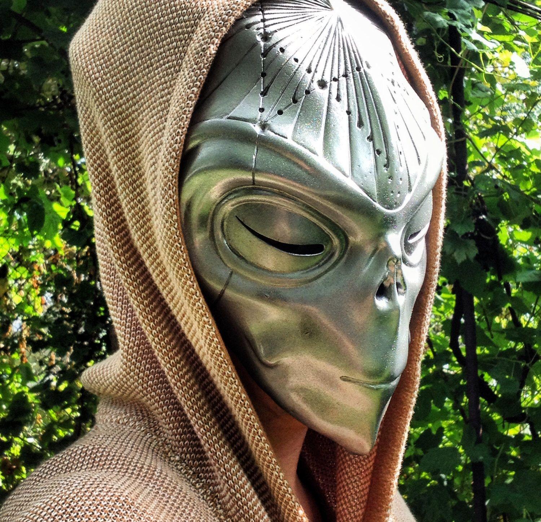 Alien Mask,Halloween Mask,Masquerade Mask,Futuristic Headpiece ...