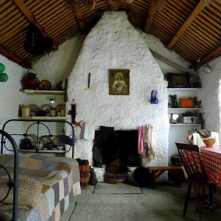 Irish cabin interior Glencolmcille Co Donegal