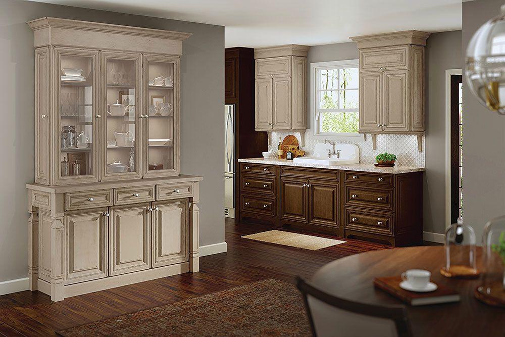 maple cherry kitchen in aged papyrus hazel suede kraftmaid kitchen cabinet design on kitchen interior cabinets id=42302