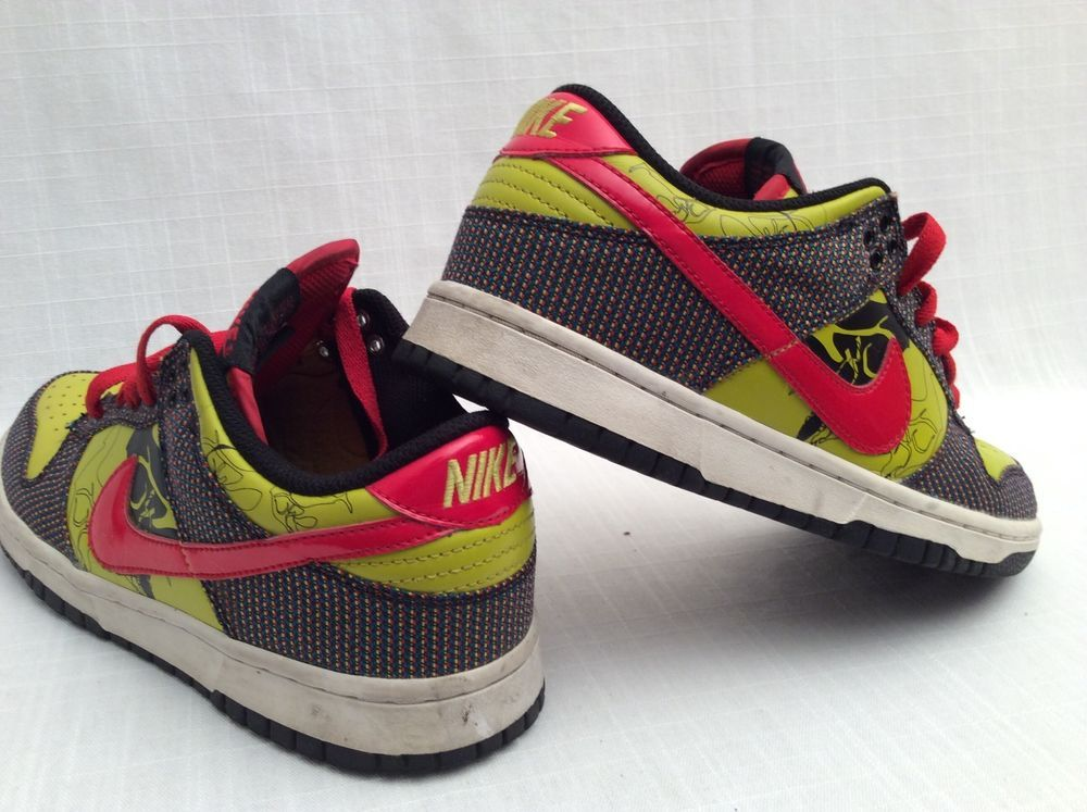 NIKE DUNK LOW PREMIUM Black Yellow Red Womens Shoes Size 7.5  #Nike #AthleticSneakers