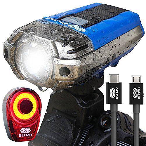 Best Usb Rechargeable Bike Light Blitzu Gator 390 Lumens Headlight