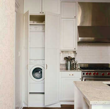 Combined Laundry Room And Kitchen Laundry In Kitchen Kitchen Washer Washer And Dryer