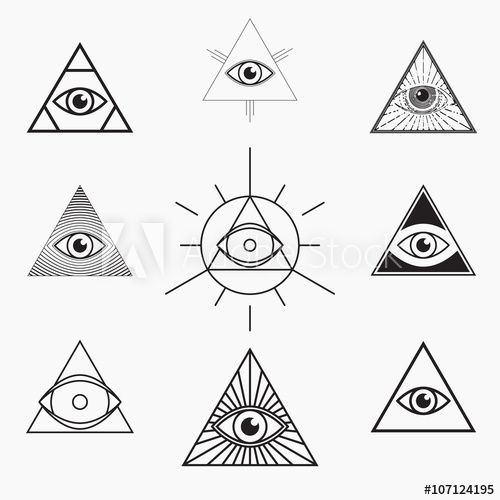 All Seeing Eye Symbol Vector Set Terceiro Olho Pinterest Eye