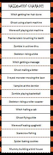 Obsessed image in halloween charades printable