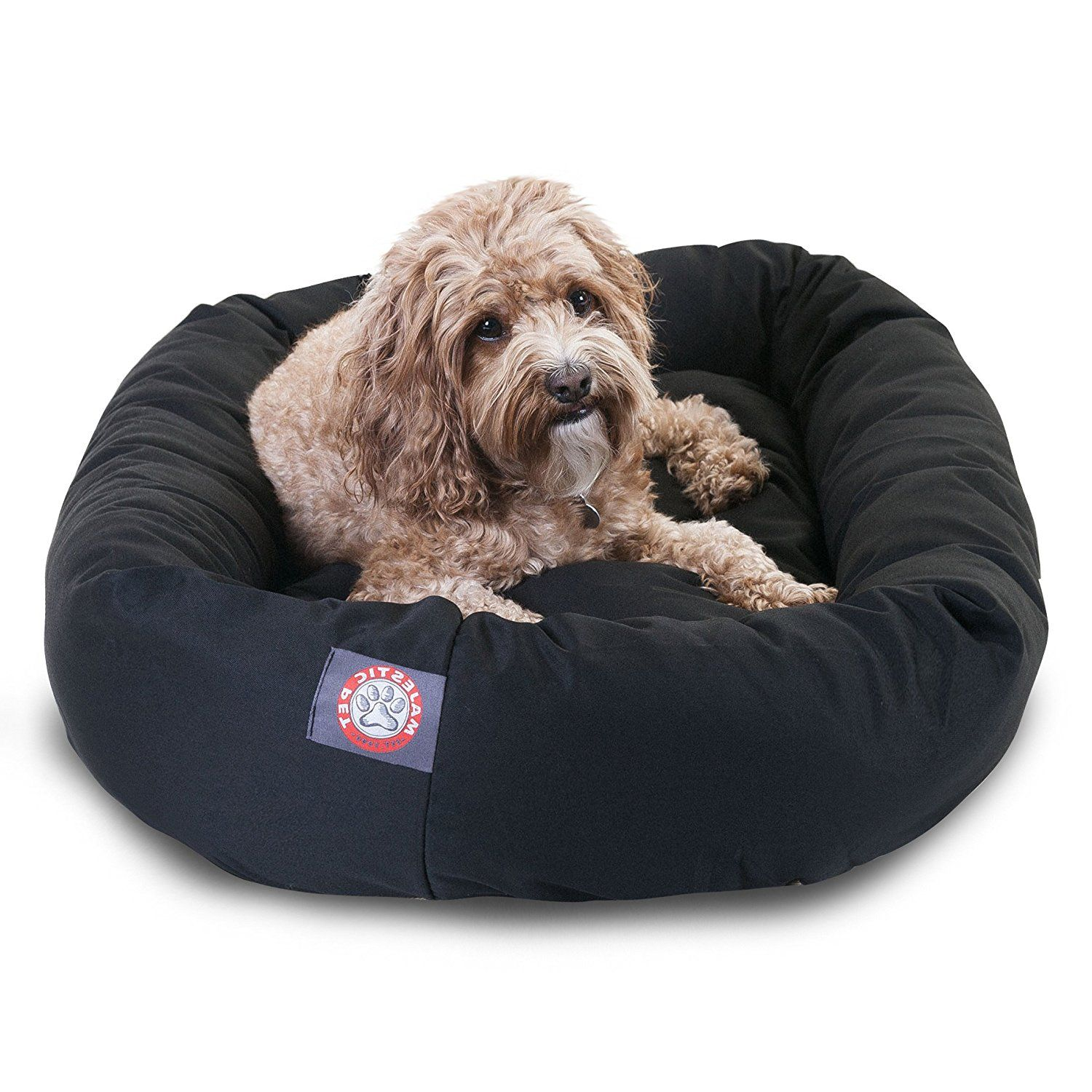 1 Piece Black Extra Large 52 Inches Comfort Pet Bed, Dark