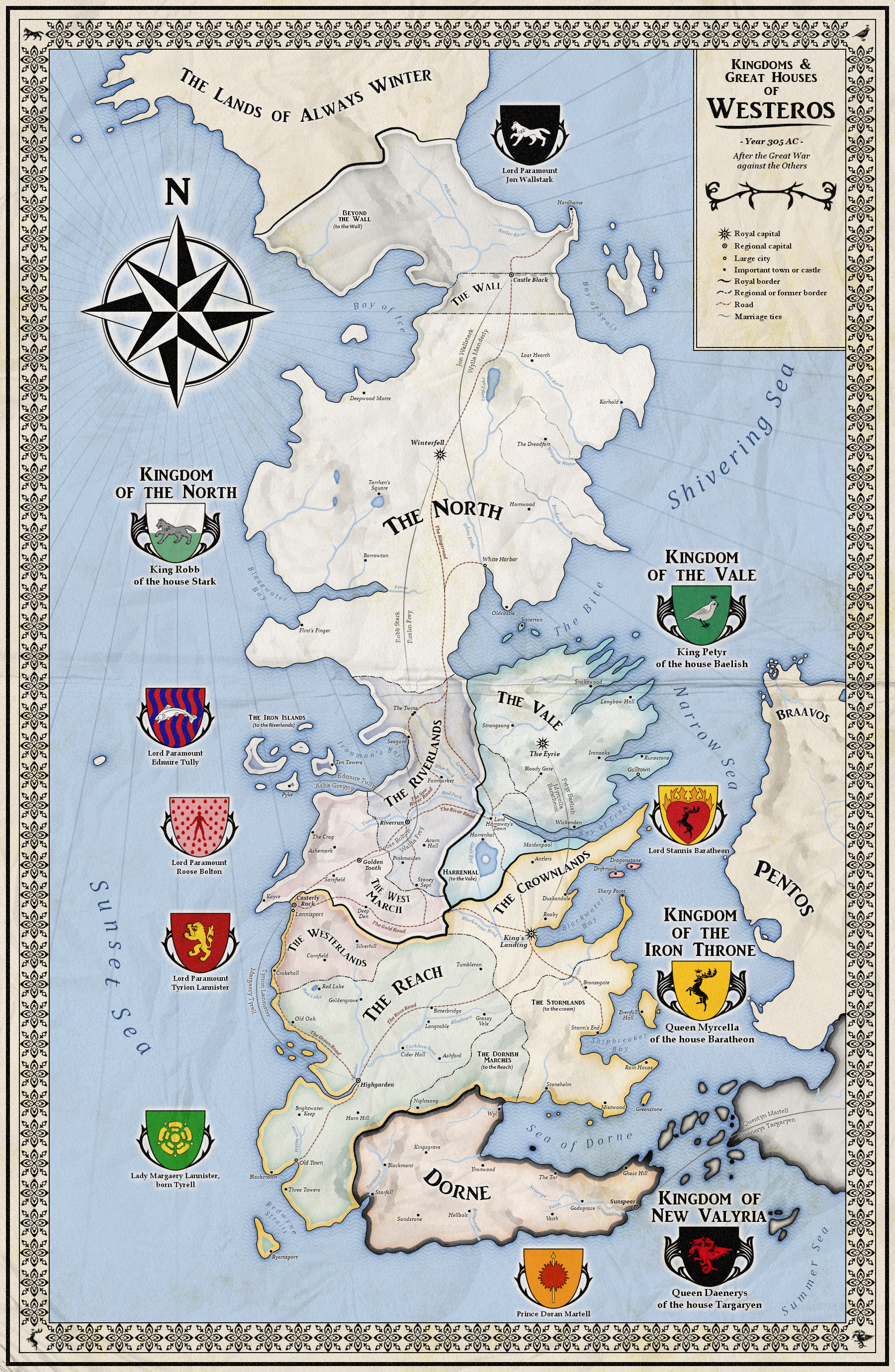 Map Of Westeros Alternative map of Westeros (Game of Thrones) by ZalringDA | Game  Map Of Westeros