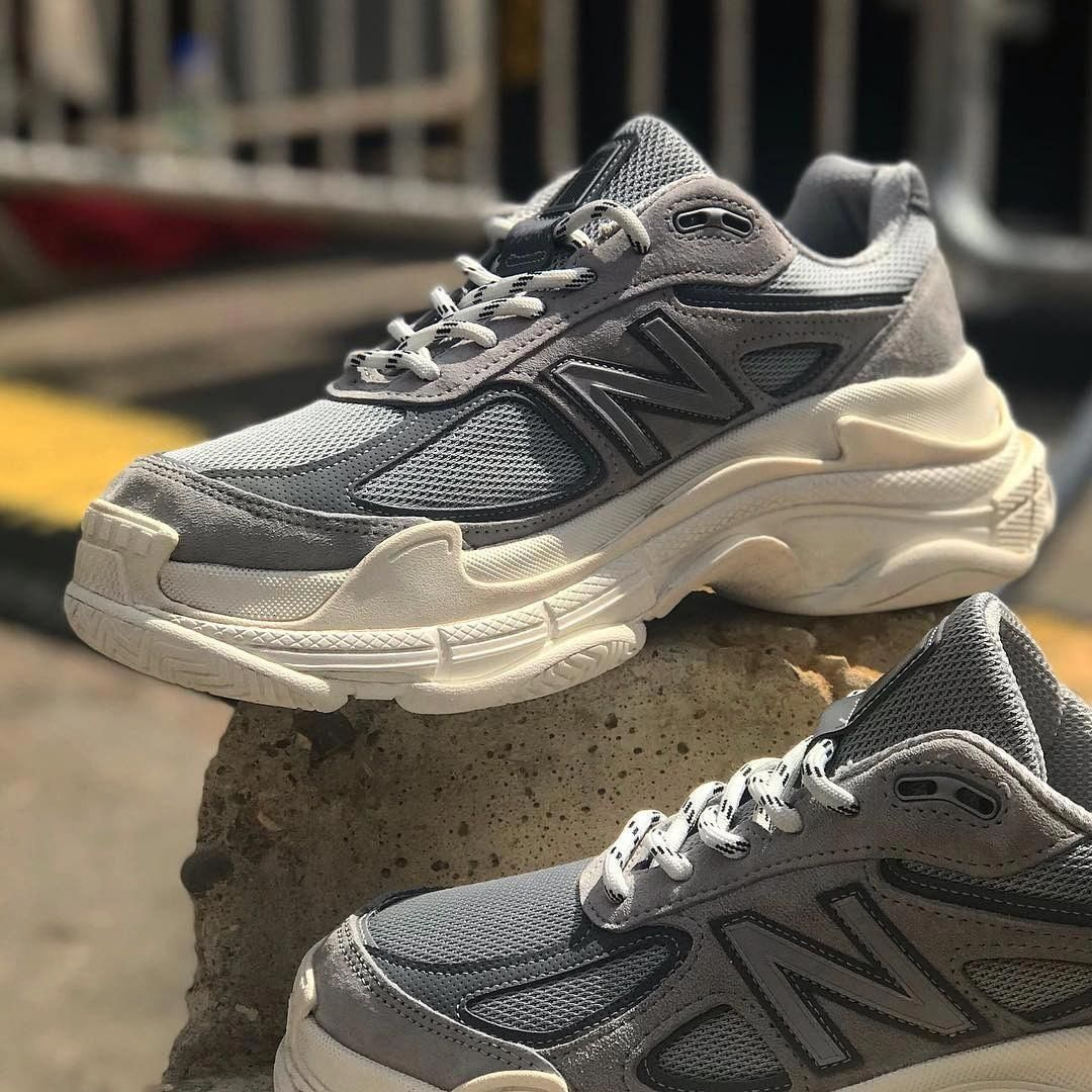 """665637b03cc Highsnobiety Sneakers  HSKicks on Instagram  """"D A D. This New Balance 990 x Balenciaga  Triple S brings dad shoes to a new level.  hskicks   freddiemade""""   ..."""